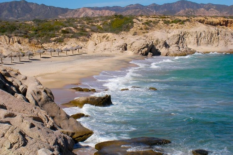 Cabo Pulmo National Park is in the South-East of the Baja California Peninsula, between the Sea of ​​Cortez and the Pacific. It is accessible after a few hours by car on a chaotic track through the desert.